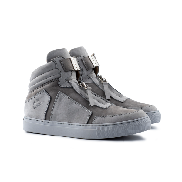 8015 High Top Zipper - Grey Nubuck