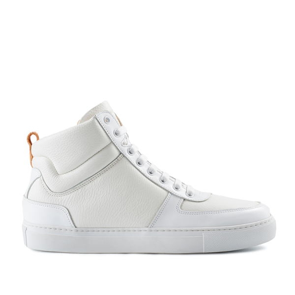 8016 High Top Sneaker - White