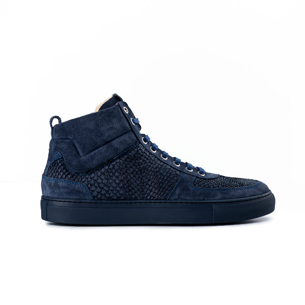 8016 High Top Sneaker - Salmon Blue